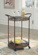 Ashley Clarkburn Bronze Finish Bar Cart