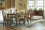 Ashley Flaybern Brown 7 Pc. Rectangular Extension Table & 6 UPH Side Chairs