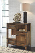 Ashley Roybeck Light Brown/Bronze Accent Cabinet