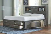 Ashley Caitbrook Gray Queen Storage Bed