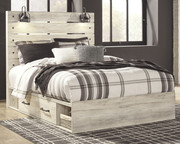 Ashley Cambeck Whitewash Queen Panel Bed with 2 Storages