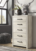 Ashley Cambeck Whitewash Five Drawer Chest