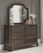 Ashley Adinton Brown Dresser & Mirror