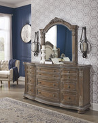 Ashley Charmond Brown Dresser & Mirror