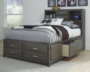 Ashley Caitbrook Gray Full Storage Bed