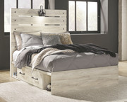 Ashley Cambeck Whitewash Full Panel Bed with 2 Storages