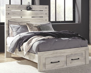 Ashley Cambeck Whitewash Full Panel Bed with Storage