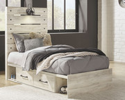 Ashley Cambeck Whitewash Twin Panel Bed with Side Storage