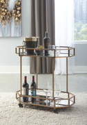 Ashley Daymont Gold Finish Bar Cart
