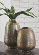 Ashley Miette Antique Brass Finish Vase Set (2/CN)
