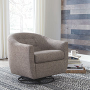 Ashley Upshur Taupe Swivel Glider Accent Chair