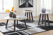 Ashley Luvoni White/Dark Charcoal Gray Occasional Table Set (3/CN)
