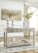 Ashley Shawnalore Whitewash Sofa/Couch Table