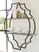Ashley Candon Antique Gray/Black Wall Shelf