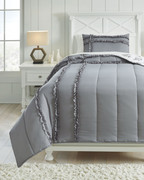 Ashley Meghdad Gray/White Twin Comforter Set