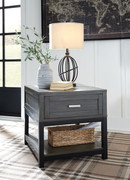 Ashley Caitbrook Gray/Black Rectangular End Table