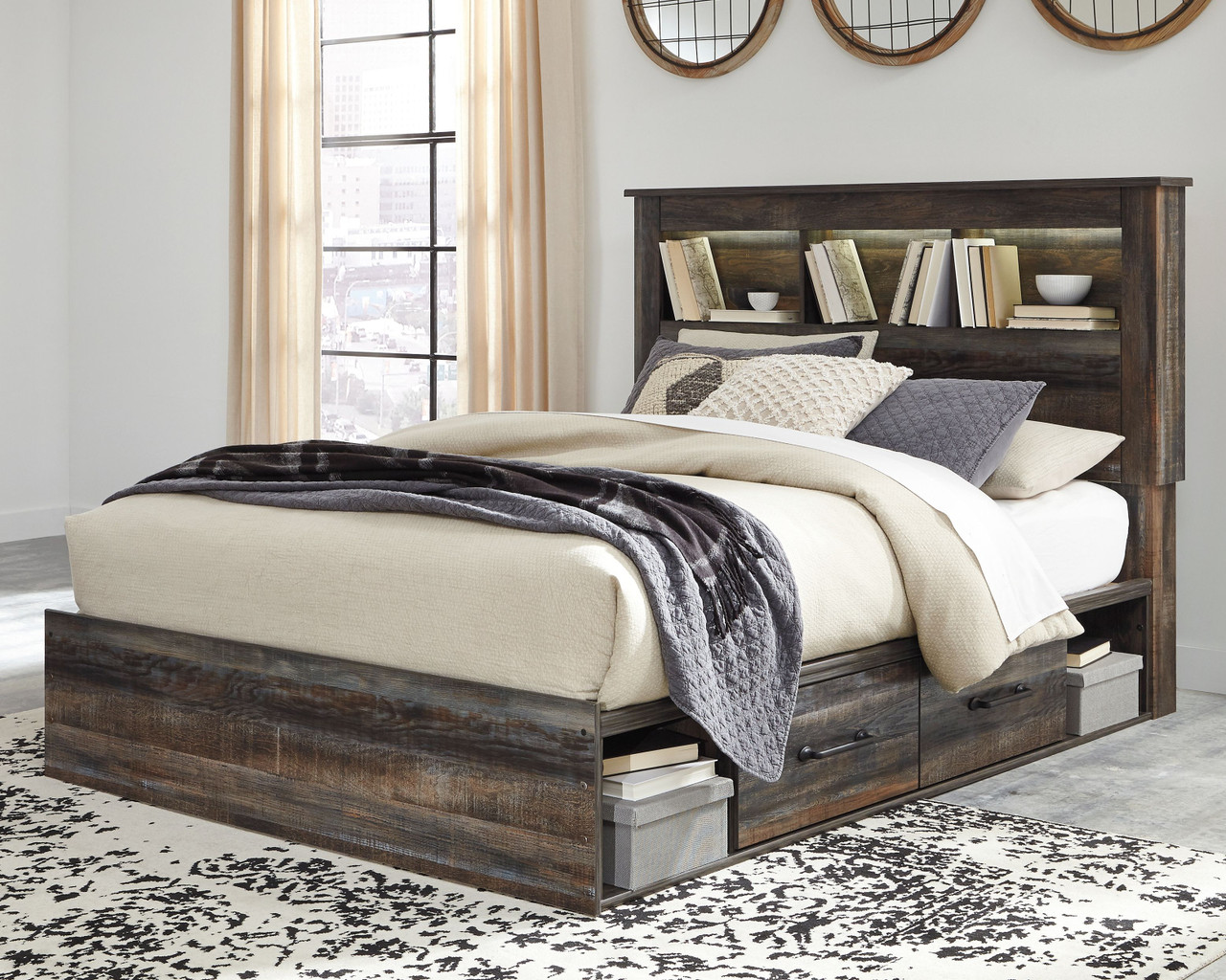 Ashley Drystan Multi Queen Bookcase Bed With Under Bed Storage On Sale At Lakeland Furniture Mattress Serving Antigo Minocqua And Rhinelander Wi