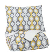 Ashley Mato Gray/Yellow/White King Comforter Set
