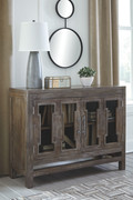 Ashley Hanimont Brown Accent Cabinet