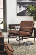 Ashley Puckman Brown/Silver Finish Accent Chair