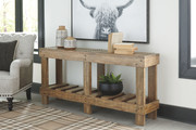Ashley Susandeer Brown Console Sofa/Couch Table