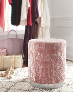 Ashley Lancer Blush Pink Accent Ottoman