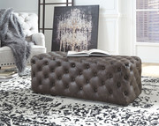 Ashley Lister Brown Accent Ottoman