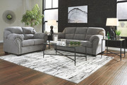Ashley Allmaxx Pewter Sofa/Couch, Loveseat & Augeron Table Set