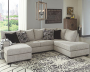 Ashley Megginson Storm LAF Sofa/Couch Chaise & RAF Corner Chaise Sectional
