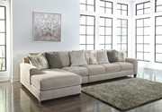Ashley Ardsley Pewter LAF Corner Chaise, Armless Chair & RAF Sofa/Couch Sectional
