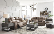 Ashley Stoneland Fossil Reclining Power Sofa/Couch & Double Reclining Power Loveseat with Console