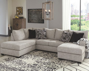 Ashley Megginson Storm LAF Corner Chaise & RAF Sofa/Couch Chaise Sectional