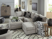 Ashley Megginson Storm LAF Corner Chaise, RAF Sofa/Couch Chaise Sectional, Round Swivel Chair & Ottoman With Storage
