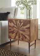 Ashley Dorvale Two-tone Brown Accent Cabinet