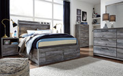 Ashley Baystorm Gray Full Panel Bed with 6 Storage Drawers
