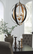 Ashley Makani Black/Gold Finish Metal Pendant Light (1/CN)