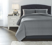 Ashley Mattias Slate Blue Queen Comforter Set