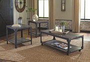 Ashley Jandoree Brown/Black Occasional Table Set (3/CN)