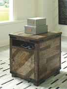 Ashley Cordayne Rustic Brown Chair Side End Table