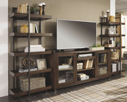 Ashley Starmore Brown Entertainment Center XL TV Stand & 2 Piers