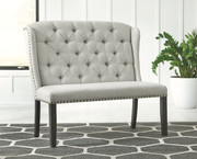 Ashley Jeanette Linen Upholstered Bench