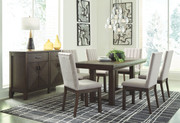 Ashley Dellbeck Brown 7 Pc. Rectangular  Extension Table & 6 Side Chairs