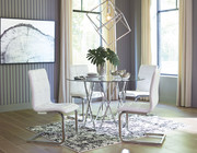 Ashley Madanere Chrome Finish 5 Pc. Round  Table & 4 Side Chairs