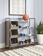 Ashley Maccenet Gray Shoe Rack