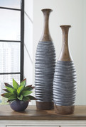 Ashley Blayze Antique Gray/Brown Vase Set (2/CN)
