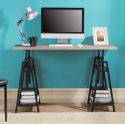 Ashley Irene Gray Adjustable Height Desk