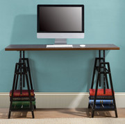 Ashley Irene Dark Brown Adjustable Height Desk