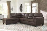 Ashley Navi Chestnut LAF Corner Chaise & RAF Sofa/Couch Sectional