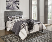 Ashley Adelloni Gray Queen Upholstered HDBD/FTBD/Roll Slats