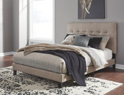 Ashley Adelloni Light Brown Queen Upholstered HDBD/FTBD/Roll Slats